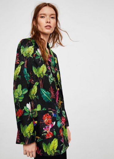MANGO Blazer mit Tropical-Print