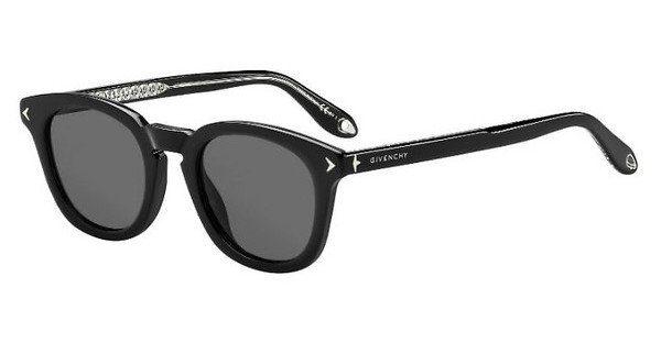 GIVENCHY Givenchy Herren Sonnenbrille » GV 7101/F/S«, schwarz, 807/IR - schwarz/grau