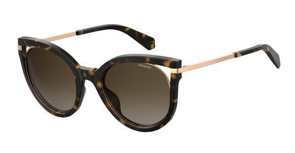 Polaroid Damen Sonnenbrille » PLD 4067/S«, braun, 086/LA - braun/braun