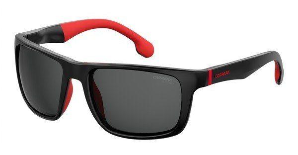 Carrera Eyewear Herren Sonnenbrille » CARRERA 8027/S«, schwarz, BLX/W6 - schwarz/rot