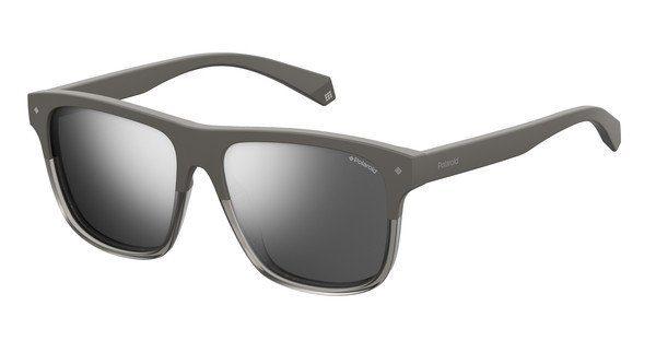 Polaroid Herren Sonnenbrille » PLD 7017/S«, grau, KB7/EX - grau/ silber