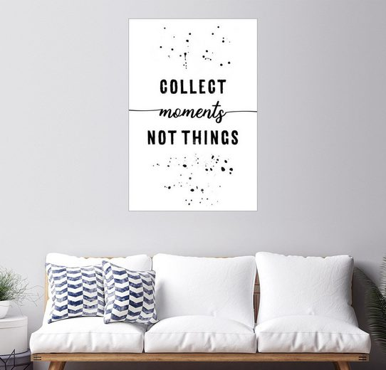 Posterlounge Wandbild - Melanie Viola »TEXT ART Collect moments not things«