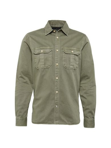 Scotch & Soda Langarmhemd Oversized garment dyed workwear shirt, Knopfleiste