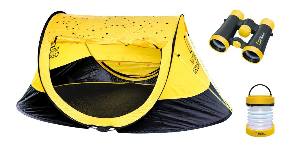National Geographic Camping Set »Zelt, 4x30 Fernglas, Laterne«