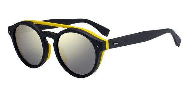 FENDI Fendi Herren Sonnenbrille » FF M0017/F/S«, schwarz, 807/KU - schwarz/blau