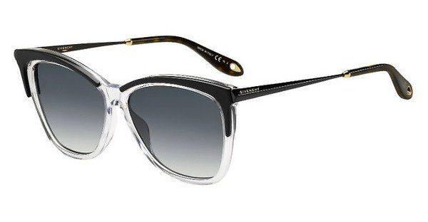 GIVENCHY Givenchy Damen Sonnenbrille » GV 7071/S«, schwarz, 7C5/M9 - schwarz/grau