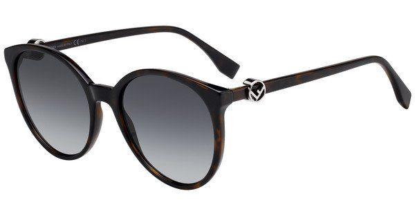 FENDI Fendi Damen Sonnenbrille » FF 0288/S«, lila, 0T7/9O - lila/grau