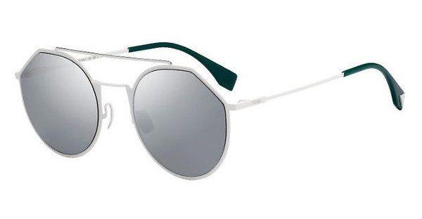 FENDI Fendi Herren Sonnenbrille » FF M0021/S«, weiß, VK6/T4 - weiß/silber