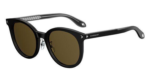 GIVENCHY Givenchy Damen Sonnenbrille » GV 7063/F/S«, schwarz, 807/70 - schwarz