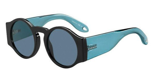 GIVENCHY Givenchy Damen Sonnenbrille » GV 7056/S«, schwarz, 807/KU - schwarz/blau