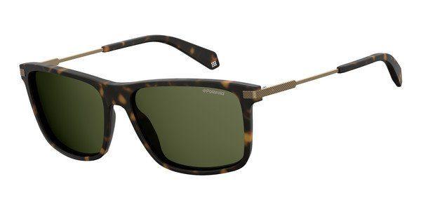 Polaroid Herren Sonnenbrille » PLD 2063/F/S«, braun, N9P/UC - braun/grün