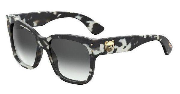 Moschino Damen Sonnenbrille » MOS008/S«, schwarz, WR7/9O - schwarz/grau