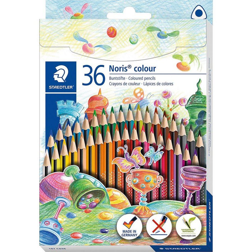 STAEDTLER Noris colour Dreikant-Buntstifte, 36 Farben online kaufen