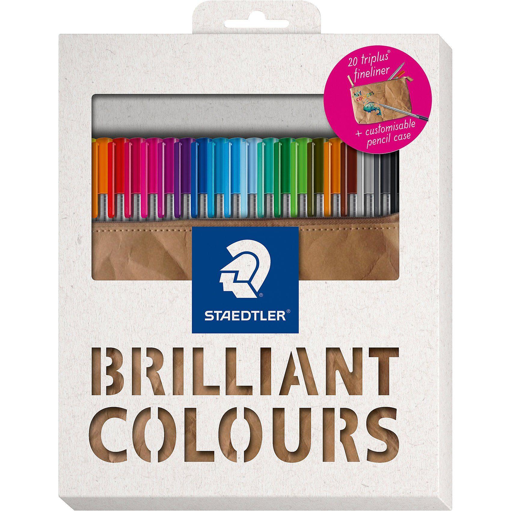 STAEDTLER Fineliner triplus Pencil Case Collection 2018, 20 Farben