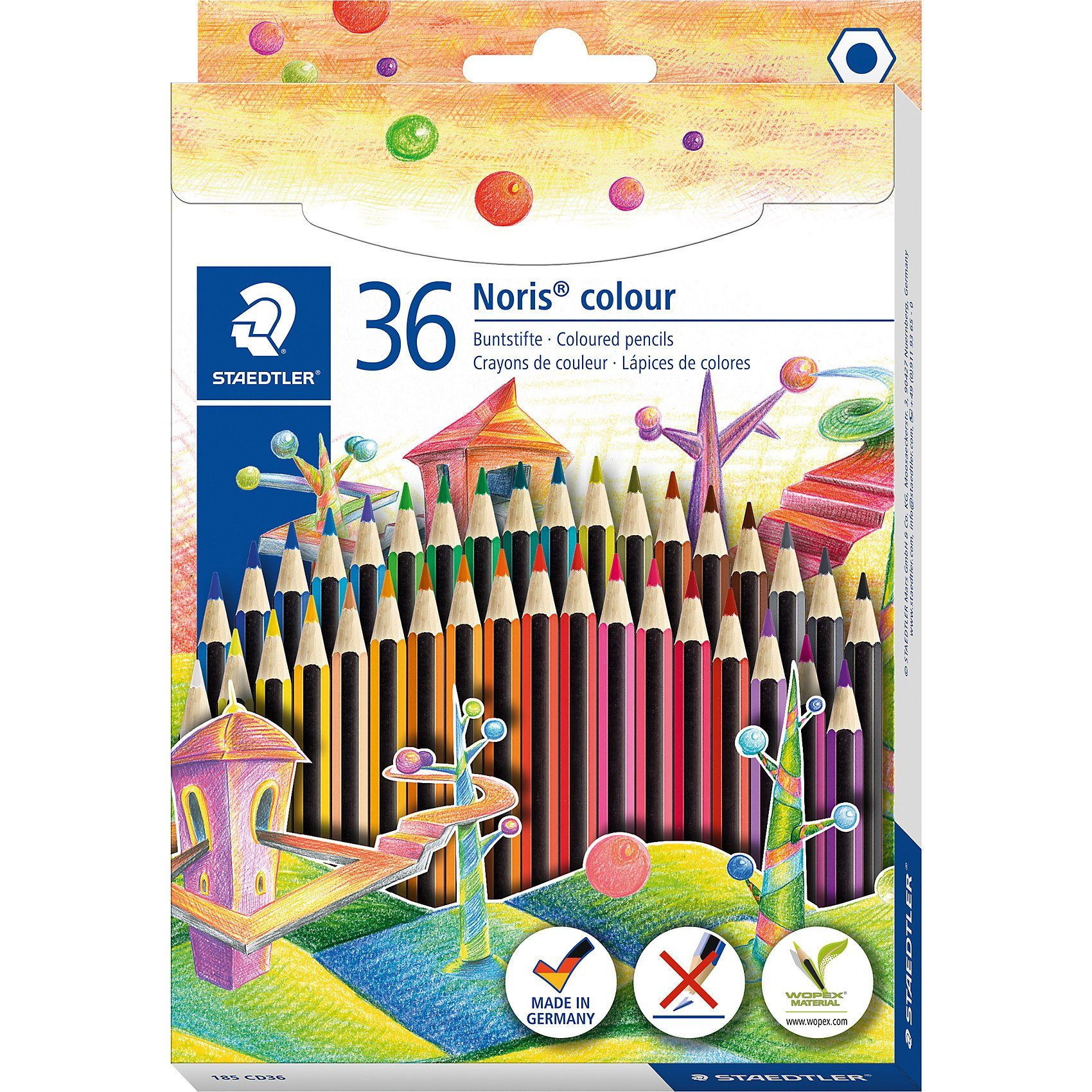 STAEDTLER Noris colour Buntstifte, 36 Farben