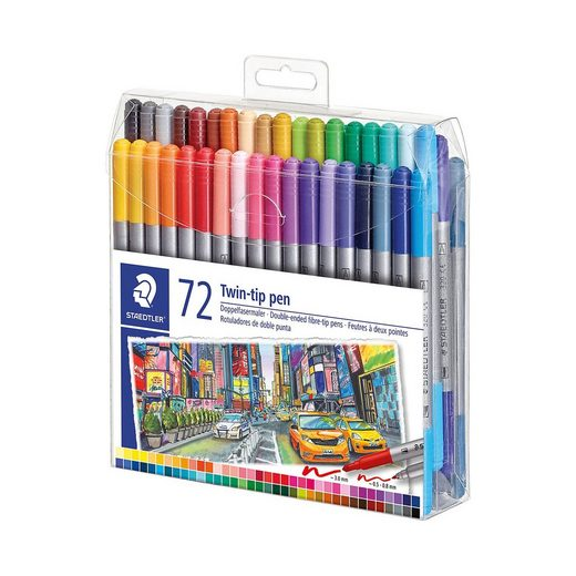 STAEDTLER Doppel-Filzstifte, 72 Farben
