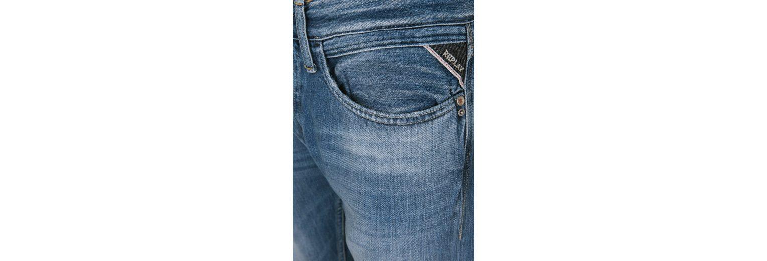 Replay 5-Pocket-Jeans NEWBILL COTTON DENIM, Ziersteppungen