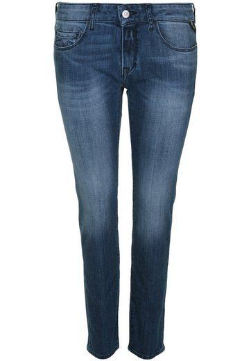 Replay 5-Pocket-Jeans ROSE MID BLUE, Dunkle Kontrastnähte