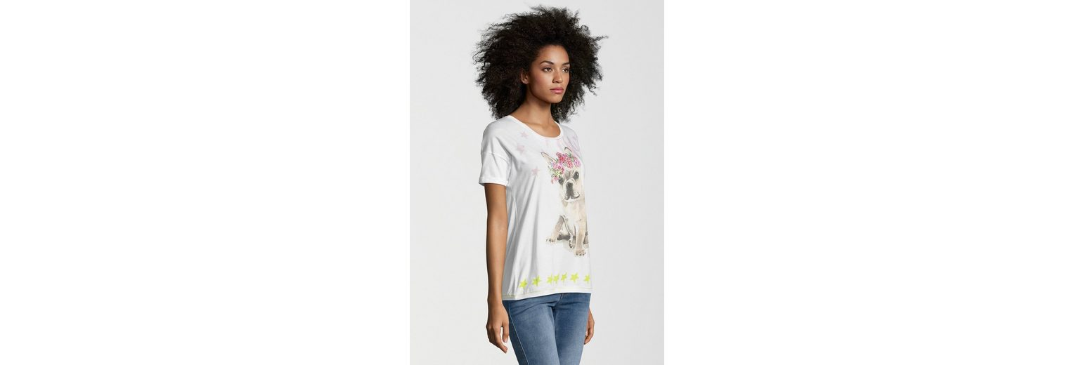 Frogbox T-Shirt DOG FLOWER, Motiv in Aquarell-Optik
