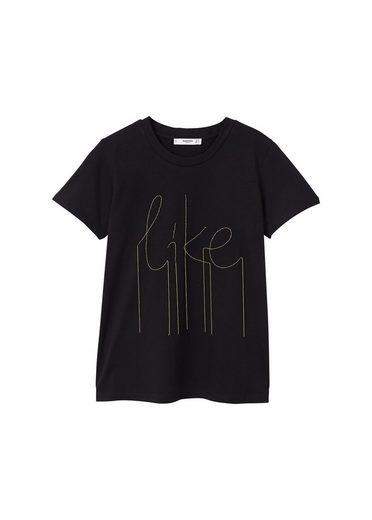 MANGO T-Shirt mit Zierkette