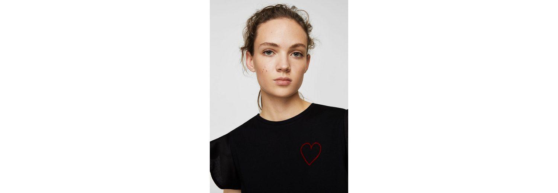 2018 Billig Verkaufen Niedrig Versandkosten Für Verkauf MANGO T-Shirt mit aufgesticktem Herz BbjJIL