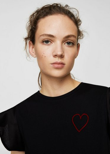 Mango T-shirt With Embroidered Heart