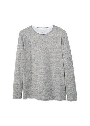 MANGO MAN Meliertes Baumwoll-T-Shirt