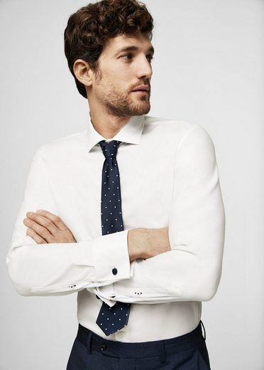 Mango Is Structured Slim Fit Tailored-shirt