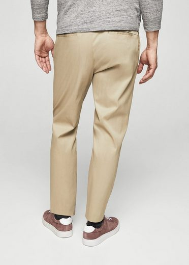 MANGO MAN Satinierte Regular Fit Hose