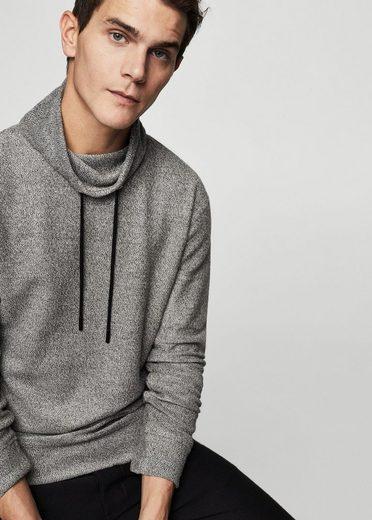 MANGO MAN Meliertes Baumwoll-Sweatshirt