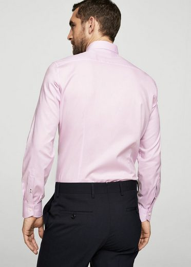 MANGO MAN Slim Fit Tailored-Hemd, Baumwolle