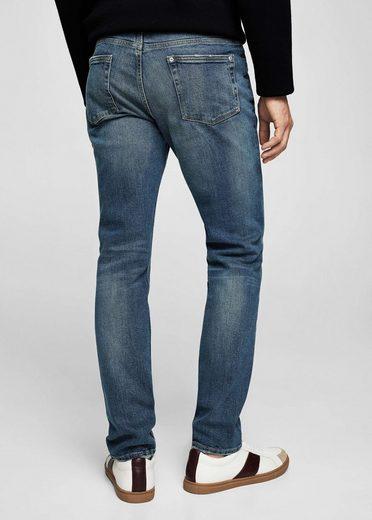 MANGO MAN Slim Fit Jeans Tim mit mittlerer Vintage-Waschung