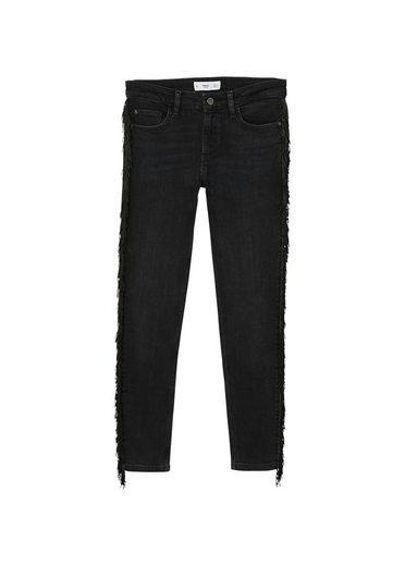 MANGO Skinny Jeans mit Fransen