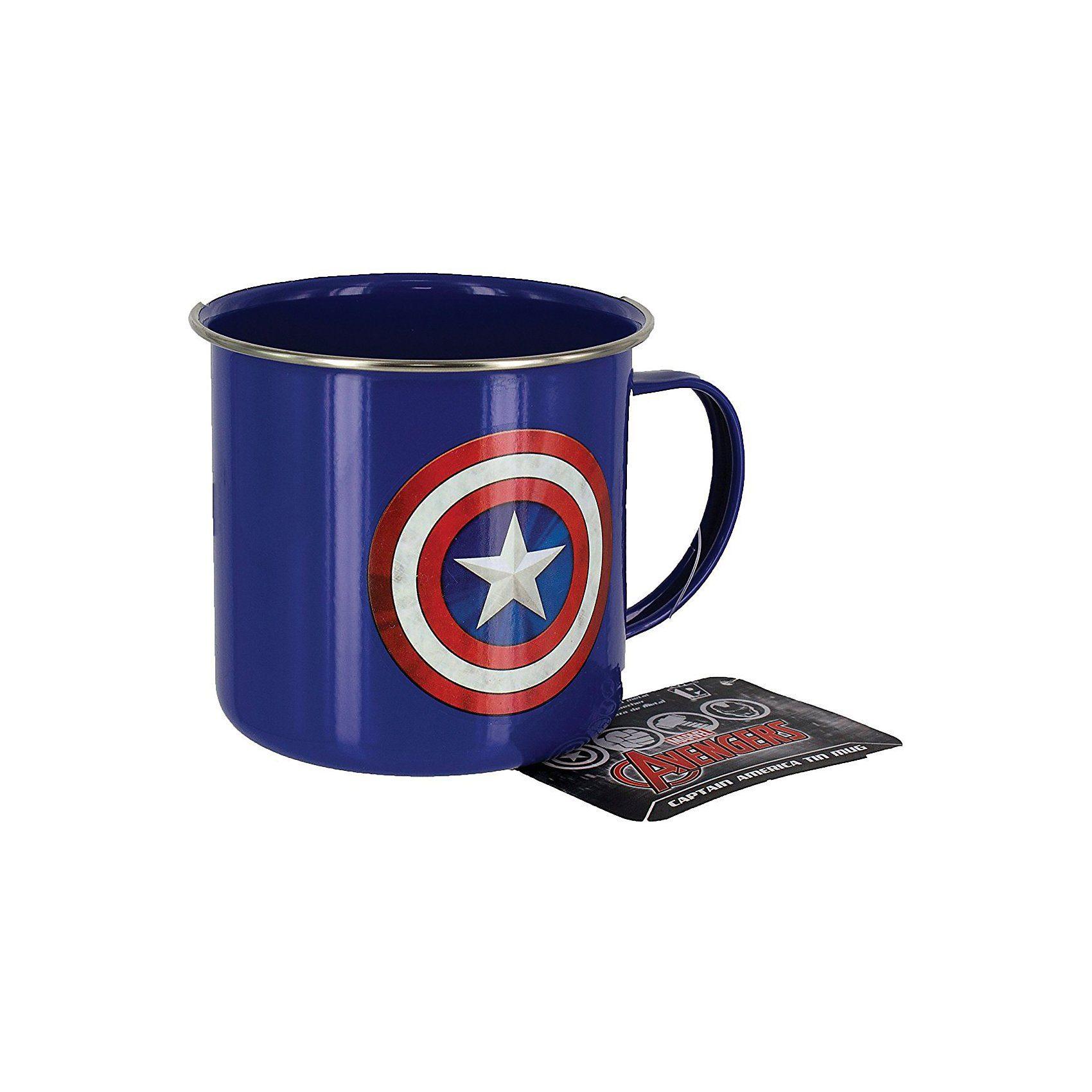 Marvel Avengers Captain America Metallbecher 450ml