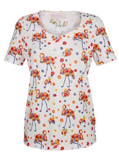 Paola Druckshirt mit Flamingos