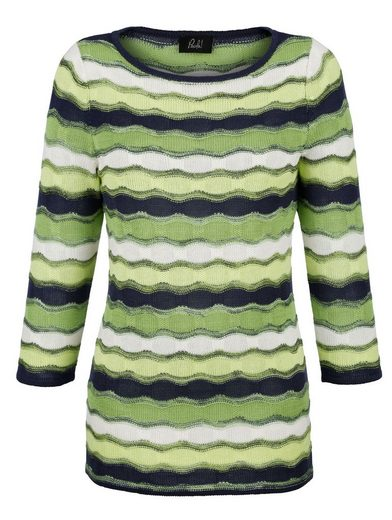 Paola Pullover With Wavy Knit Pattern