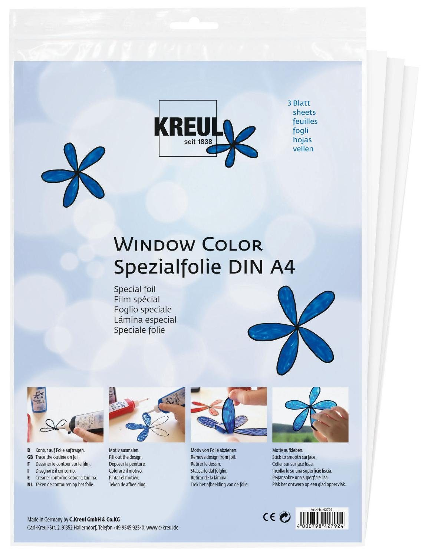 "Kreul Folie ""Window Color Spezialfolie A4"" 3 Stück"