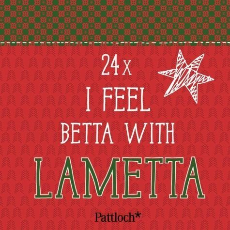 Kalender »I feel betta with lametta. Mini-Kartenaufsteller«