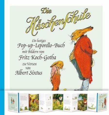 Gebundenes Buch »Die Häschenschule - Pop-up-Leporello-Buch«