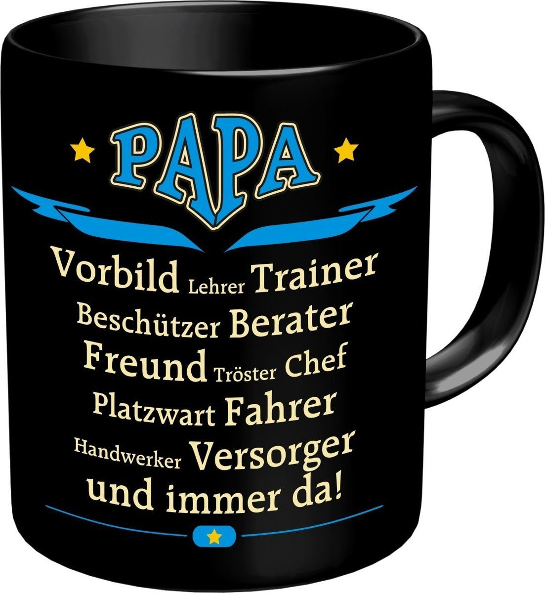Rahmenlos Tasse mit tollem Papa-Druck