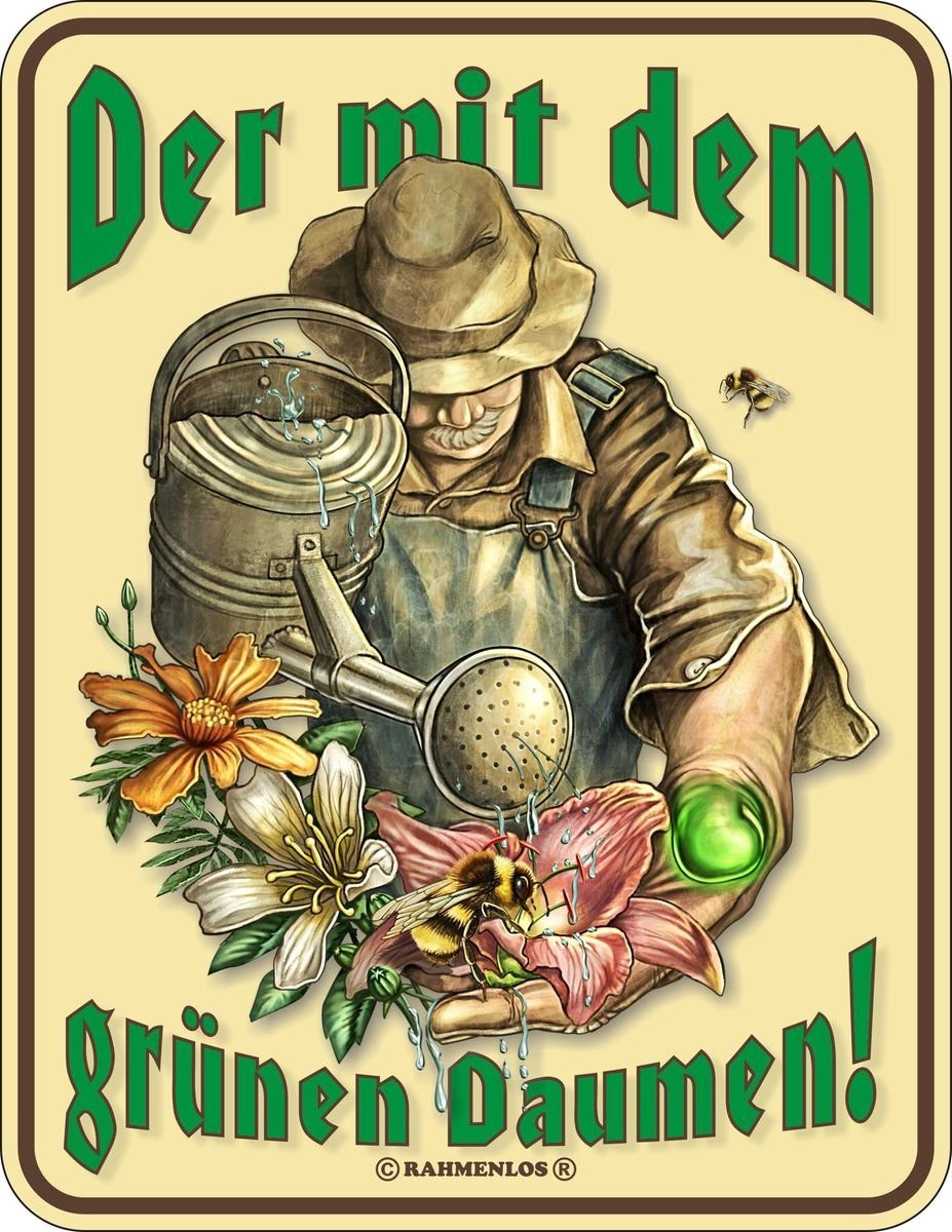 Rahmenlos Blechschild für den passionierten Gärtner