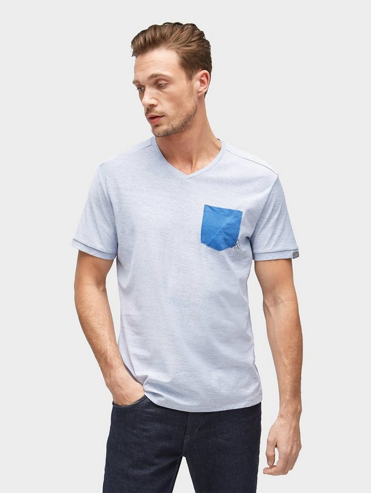 tom tailor t shirt t shirt mit brusttasche kurz rmlig. Black Bedroom Furniture Sets. Home Design Ideas