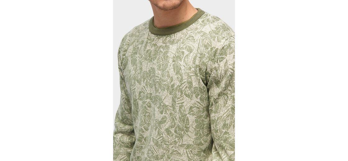 Günstig Kaufen Günstigsten Preis Tom Tailor Rundhalspullover Pullover mit Blätter-Print Spielraum Rabatte Echt Günstig Online Viele Arten vhdj5eqYm