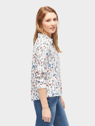 Tom Tailor Denim Langarmbluse Bluse mit floralem Muster