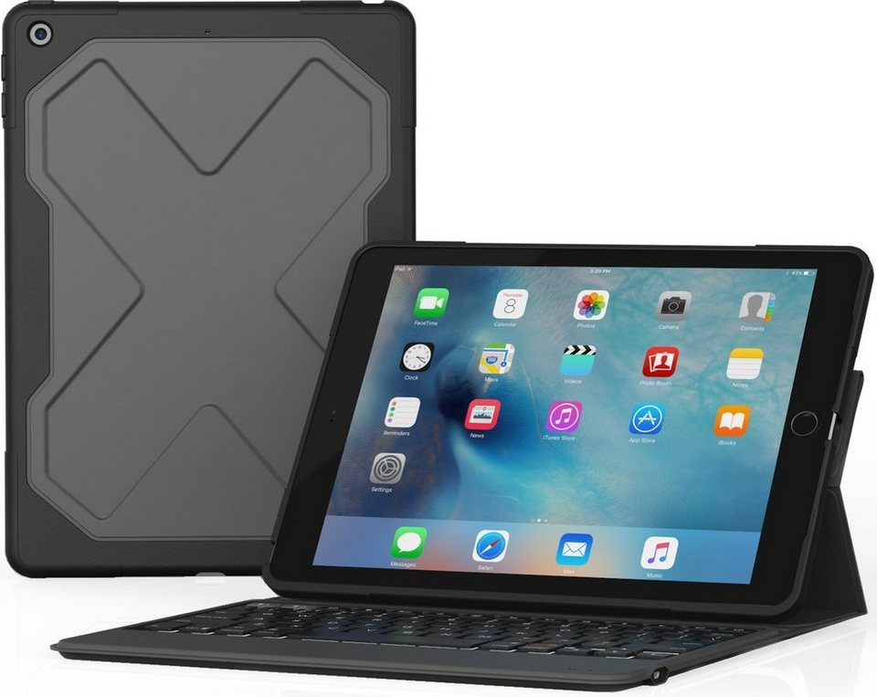 zagg tablettasche rugged messenger ipad 2017 9 7. Black Bedroom Furniture Sets. Home Design Ideas