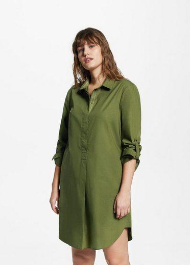 VIOLETA by Mango Hemdkleid aus Baumwolle
