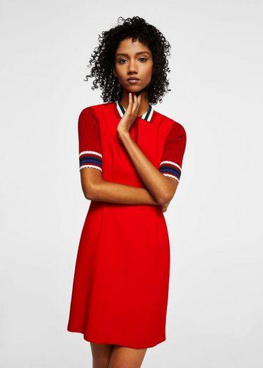 MANGO Kleid mit V-Ausschnitt