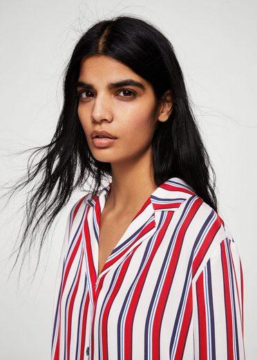 MANGO Bedrucktes Hemdkleid