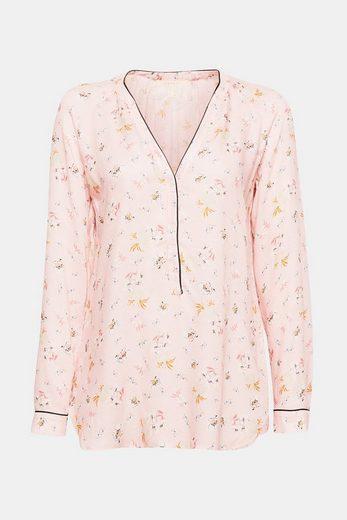 ESPRIT Fließende Viskose-Bluse mit Blumen-Print