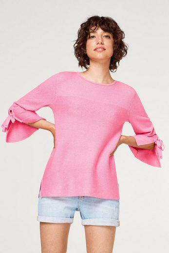 EDC BY ESPRIT Strukturmix-Pullover mit Bändchen